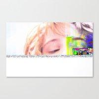 glitch Canvas Prints featuring GLITCH by Lil Ashton