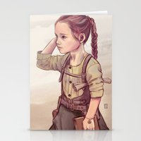 megan lara Stationery Cards featuring Lara by Sheharzad