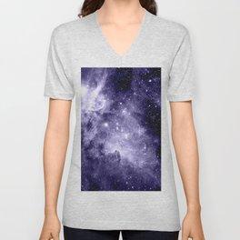Carina Nebula Muted Violet Unisex V-Neck