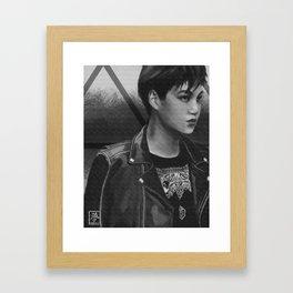 Kim Jongin Framed Art Print