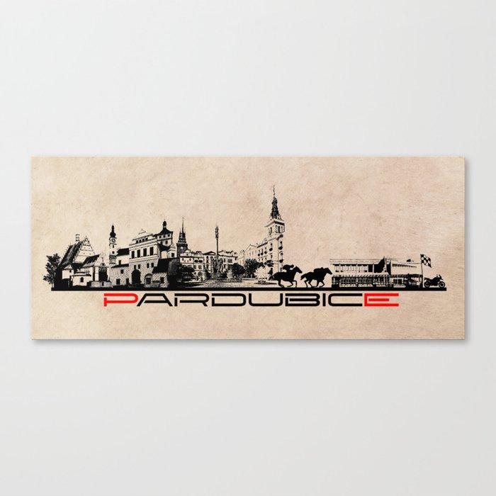 Pardubice skyline city Canvas Print