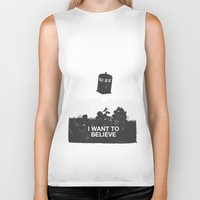 i want to believe Biker Tanks featuring I Want To Believe by Nicolas Beaujouan