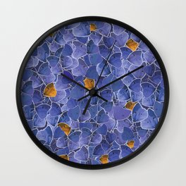Papillons blue and orange Wall Clock