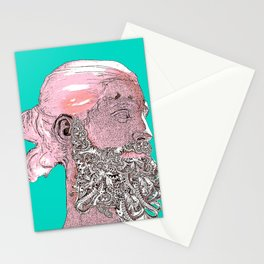 Hipster Nepune - emerald Stationery Cards