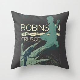 Books Collection: Robinson Crusoe Throw Pillow