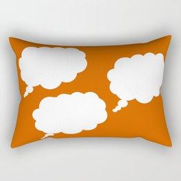 thought on orange Rectangular Pillow