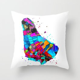 Barbados Map Throw Pillow