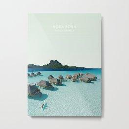 Bora Bora, French Polynesia Travel Artwork Metal Print