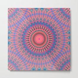 Ecstatic Visions Mandala Metal Print