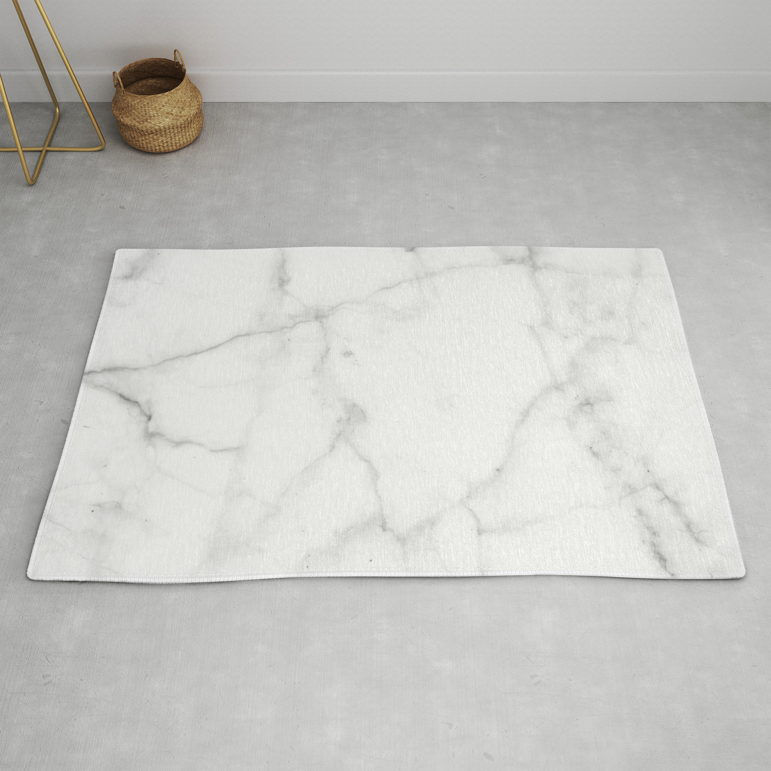 Pure Solid White Marble Stone All Over