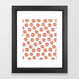 Basketball Pattern Framed Art Print