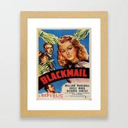 Vintage poster - Blackmail Framed Art Print