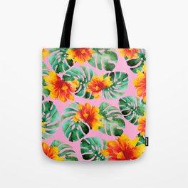 Tropical Monstera Bloom Tote Bag