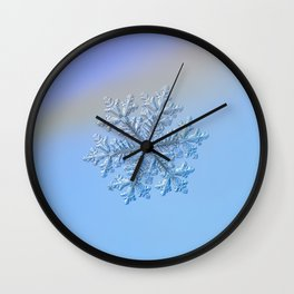 Real snowflake - Hyperion Wall Clock