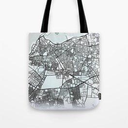 Tripoli, Libya, White, City, Map Tote Bag
