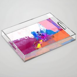 polo abstract red blue Acrylic Tray
