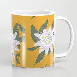 Passion Flower Pattern Coffee Mug