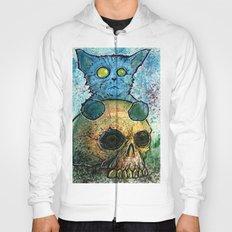 Blue Cat on a Skull Hoody