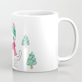 Adorable Little Cat in Christmas Time. Coffee Mug