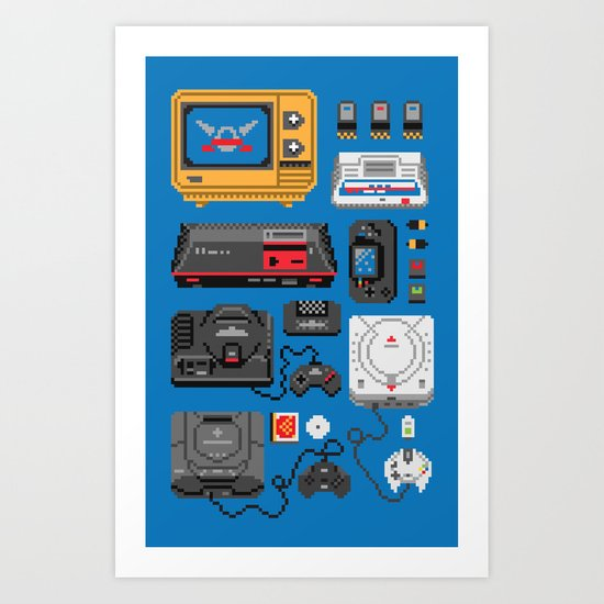 SErvice GAme History Art Print