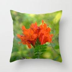 Exotic Ginger Flower Bignone 9125 Throw Pillow