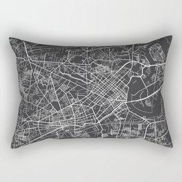 Ho Chi Minh City Map, Vietnam- Gray Rectangular Pillow