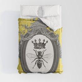 Queen Bee | Vintage Bee with Crown | Honeycomb | Duvet Cover