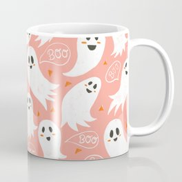 Friendly Ghosts in Pink Coffee Mug