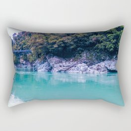 george river with blue water and ice colors in new zealand Rectangular Pillow