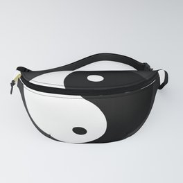 Yin and Yang BW Fanny Pack