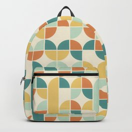 Mid Century Modern Geometric Pattern 1950s Colors Backpack