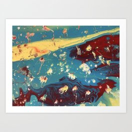 Galactic Rose Art Print