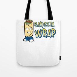 Funny Gangsta Wrap Burrito Rap Food Pun Tote Bag