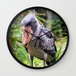 Whale-headed Stork Wall Clock