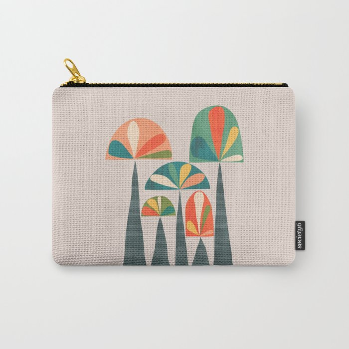 Quirky retro palm trees Carry-All Pouch