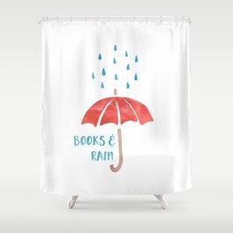 Books and Rain Shower Curtain