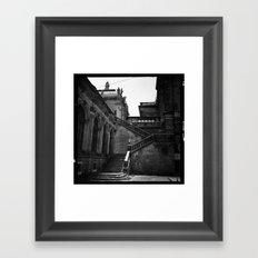dresden germany staircase  Framed Art Print