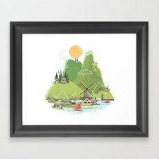 Glitchscape Framed Art Print