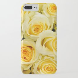 soft yellow roses close up iPhone Case