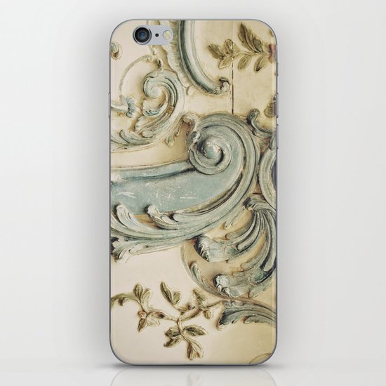 Blue Lace of Versailles iPhone & iPod Skin