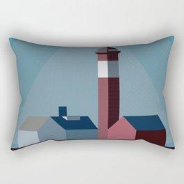 Northern landscape, minimalist illustration, nordic style, Sweden, Finland, Norway, Denmark Rectangular Pillow