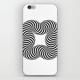 Optical illusive infinity iPhone Skin
