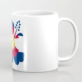 Colorado Hibiscus Flag Coffee Mug