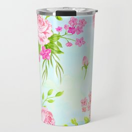 English Rose Pattern 03 Travel Mug