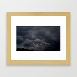 Strange Clouds Framed Art Print