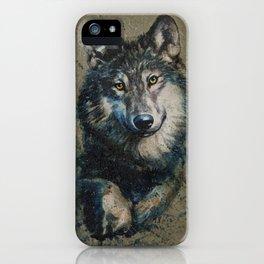 Wolf 2 background iPhone Case