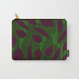 Jungle leaf Green Carry-All Pouch