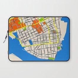 Map of Charleston, SC Laptop Sleeve