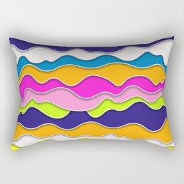 Pop Art Waves Rectangular Pillow