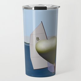 May: a Heart Soaring in the Bay - shoes story Travel Mug
